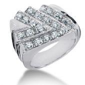 18K Arrow Designed, Round Brilliant Diamonds (1.47ctw.)