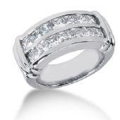 18K Channel Set Princess Cut Diamond Anniversary Ring (2.38ctw.)