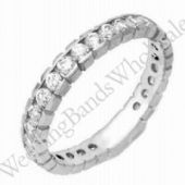 14k Gold Diamond Eternity Wedding Bands, Box Setting 1.00 ct. DEB00114K