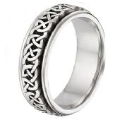 18K Gold Celtic Wedding Band 4016