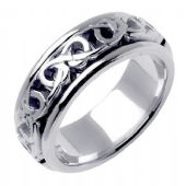 950 Platinum 7mm Celtic Knot Wedding Band C4002