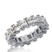14k Gold Diamond Eternity Wedding Bands, Prong Setting 7.00 ctw. DEB181414K