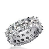 14k Gold Diamond Eternity Wedding Bands, Prong Setting 6.50 ct. DEB28714K