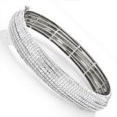 Ladies 14K Rose Gold & 5 Carat Diamond Bangle Bracelet